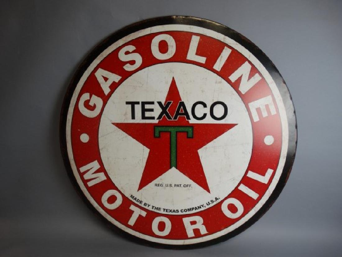 Large Reproduction Texaco Metal Sign