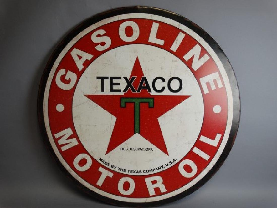 Large Reproduction Texaco Metal Sign - 2