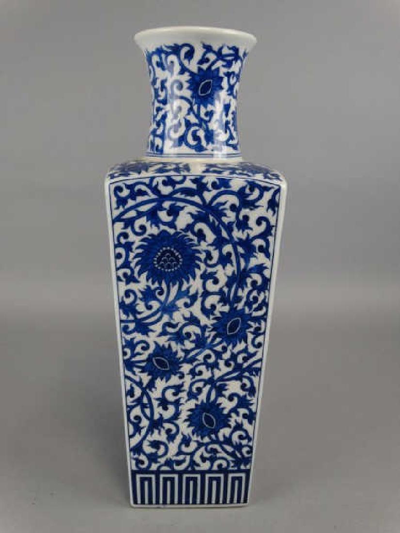 Chinese Style Blue & White  Vase