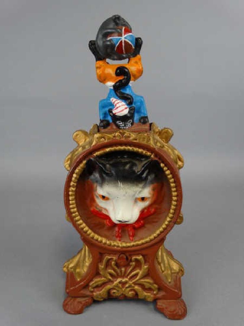 Cast Iron Cat & Mouse Bank - 2