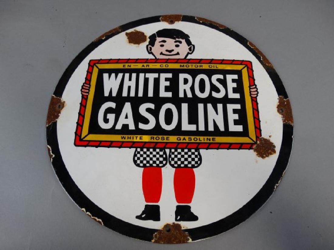 White Rose Gasoline SSP Sign