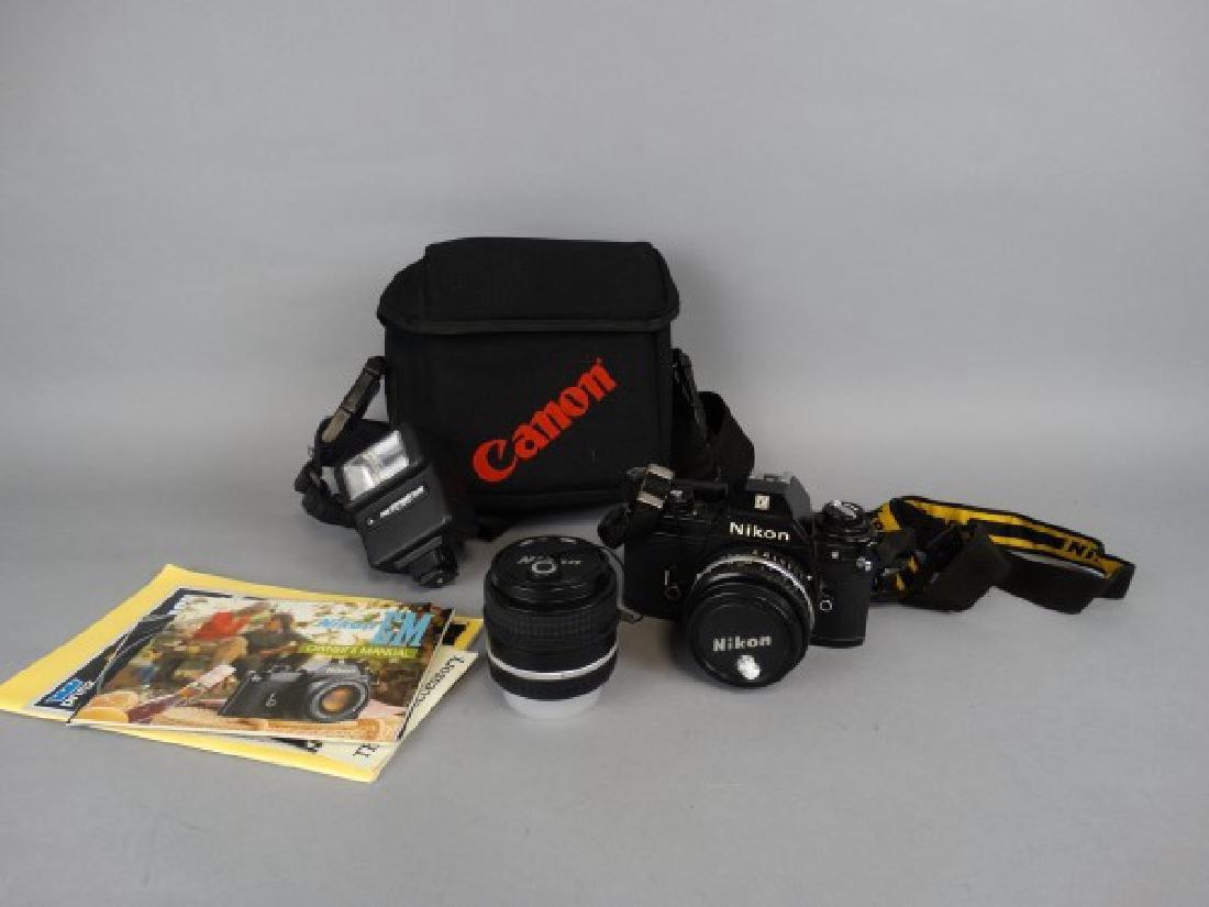 Vintage Nikon EM 35MM Camera with 100 MM Lens