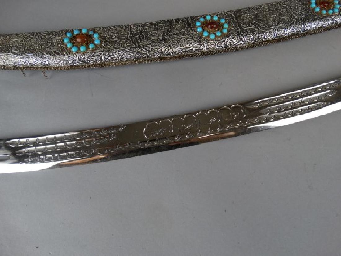 Arabic Sword w/ Silver Foil over Wood Sheath - 5