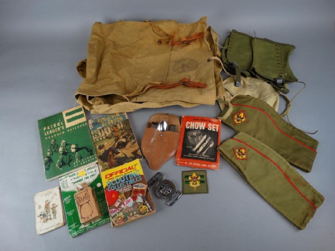 Large Group of Vintage Boy Scout Items