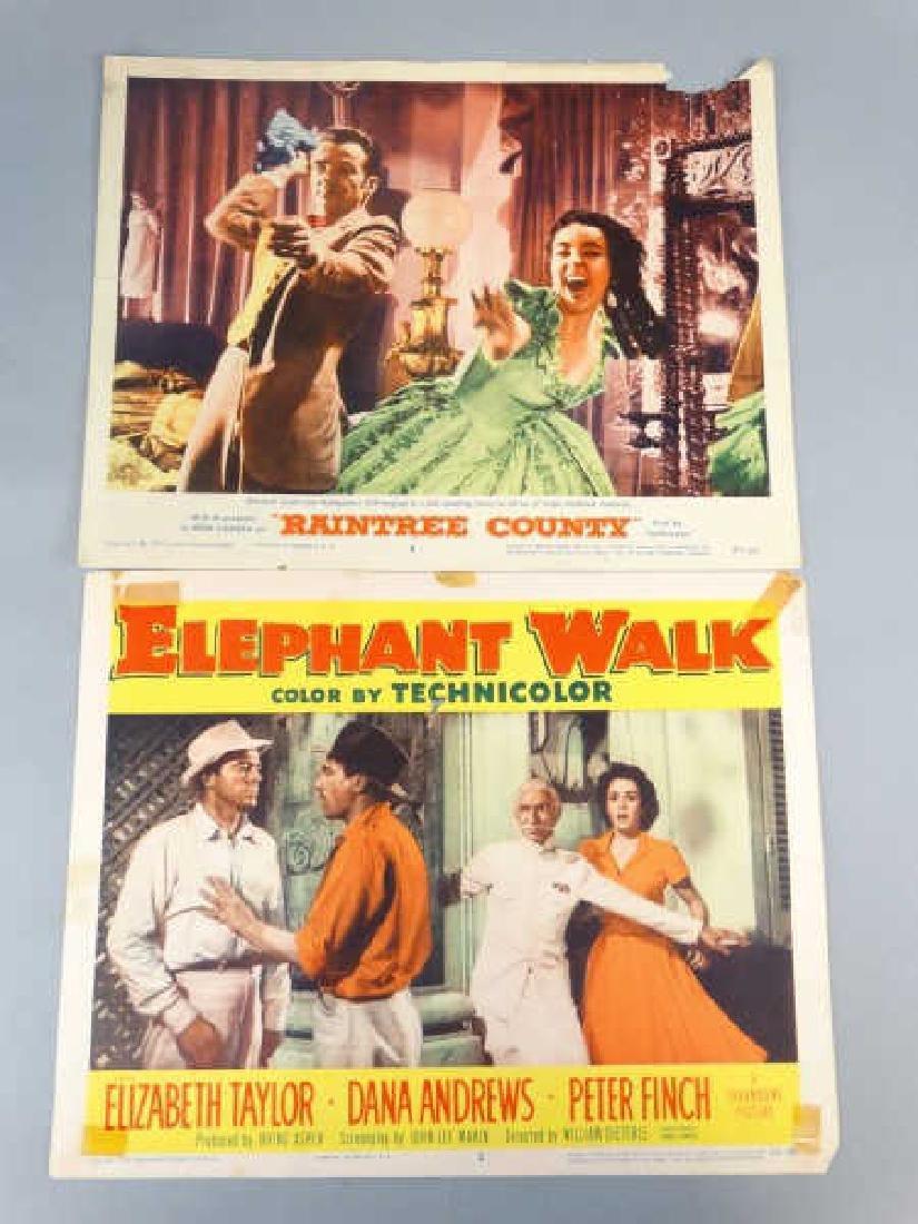 Lobby Cards - Lot of 2 Elizabeth Taylor Movies