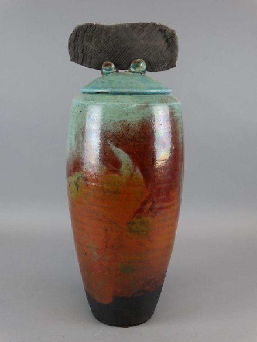 Large M. TINES Studio Pottery Vase