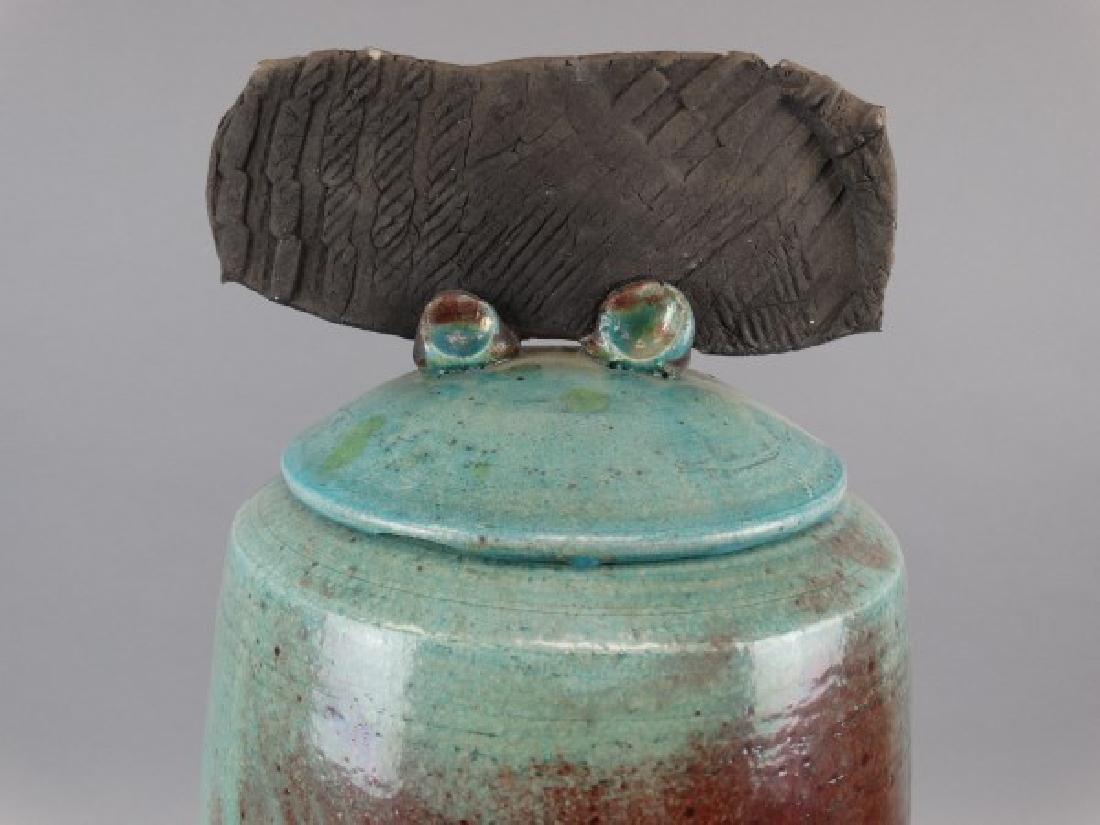 Large M. TINES Studio Pottery Vase - 5