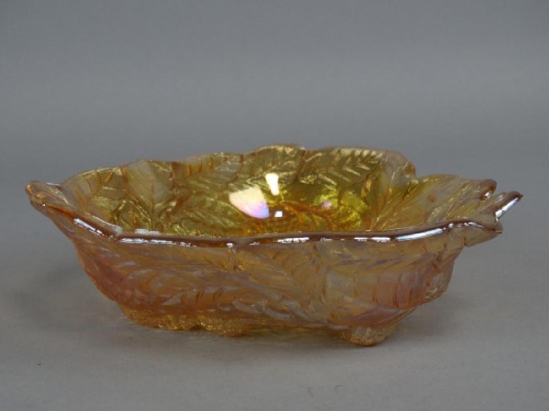 Carnival Glass Grape Bowl
