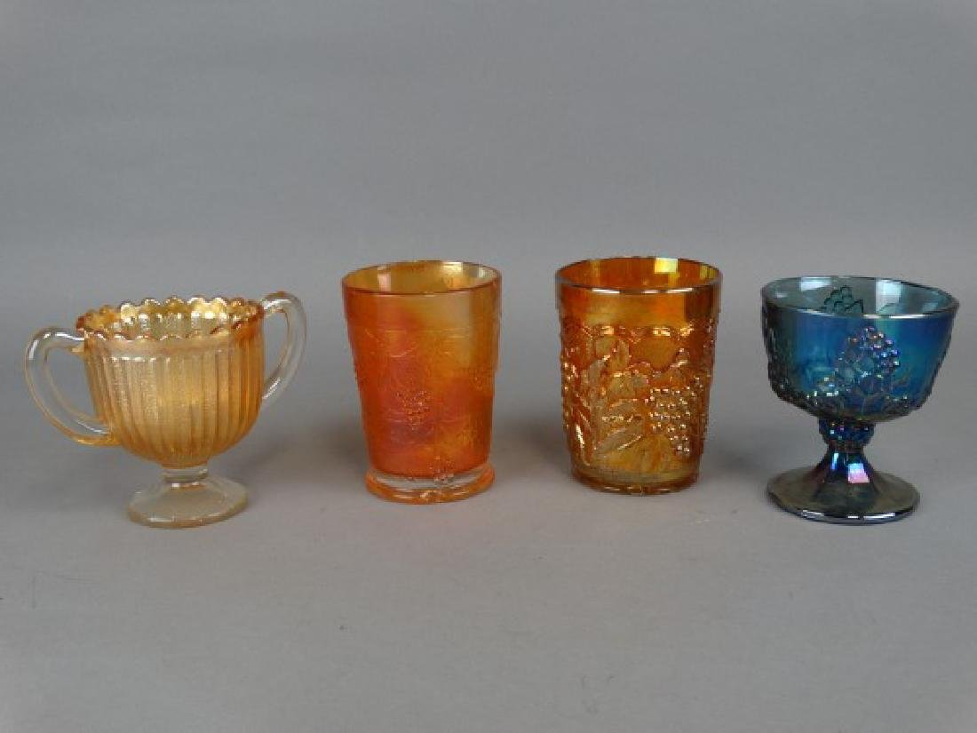 Lot of 4 Carnival Glass Containers