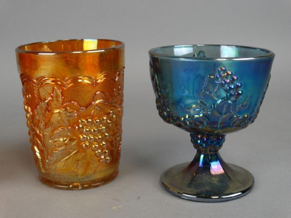 Lot of 4 Carnival Glass Containers - 2