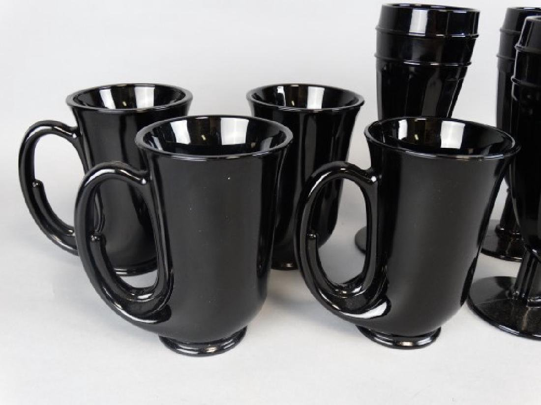 Amethyst Glass Horn Mugs and Parfait Cups - 3