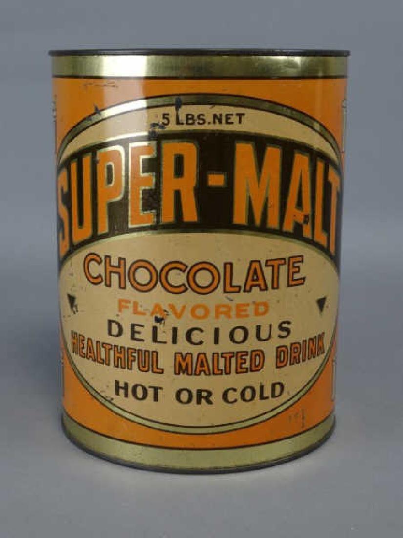 Super-Malt Chocolate Malted Drink Mix Tin