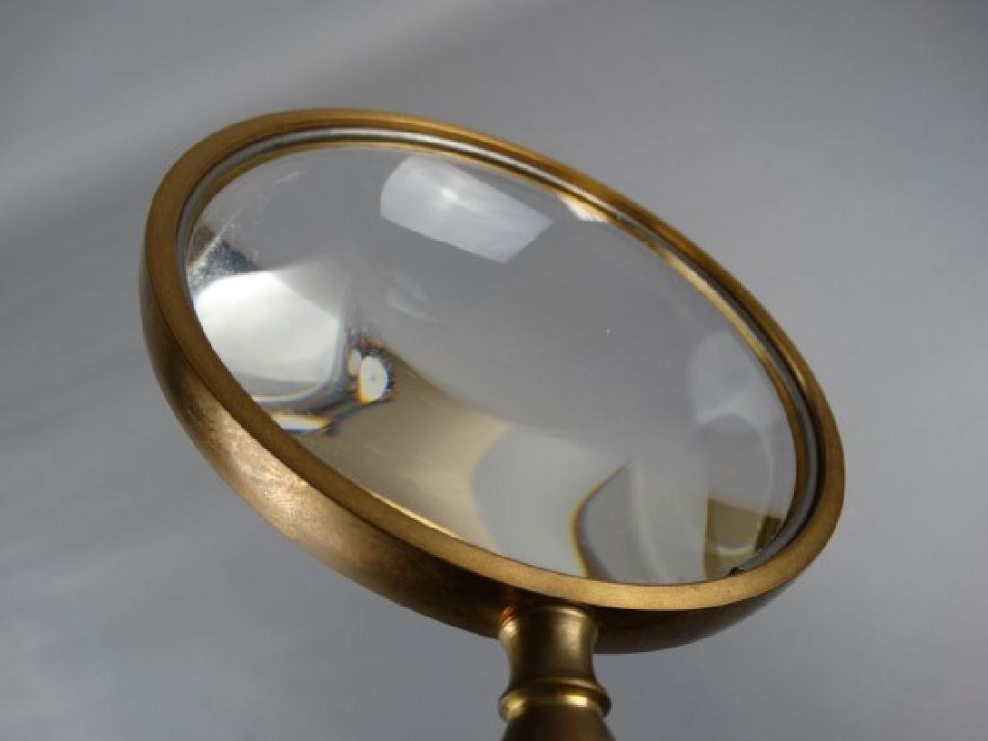 Vintage Brass and Wood Magnifying Glass - 3