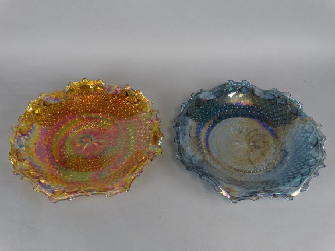 Lot of 2 Ruffle Edged Carnival Glass Bowls - 2