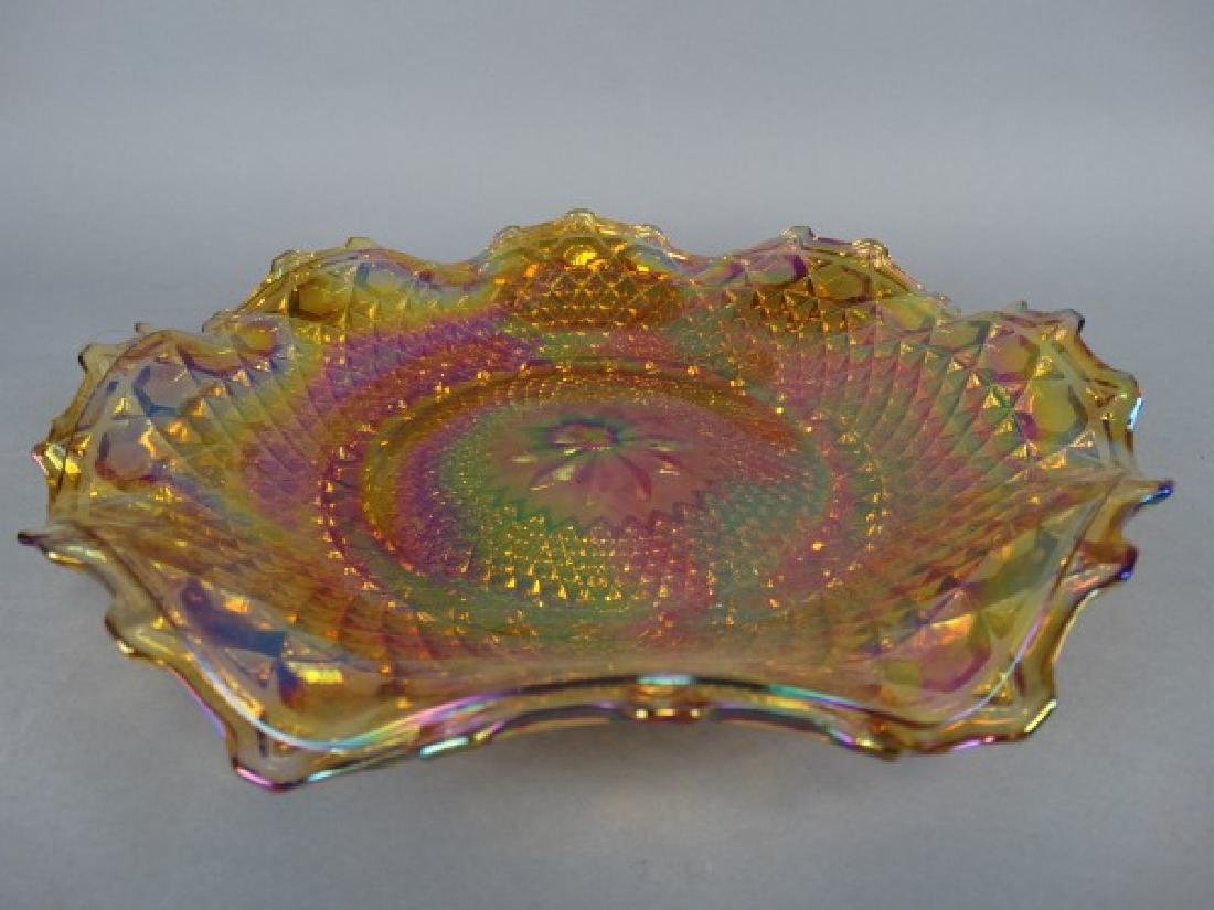 Lot of 2 Ruffle Edged Carnival Glass Bowls - 3