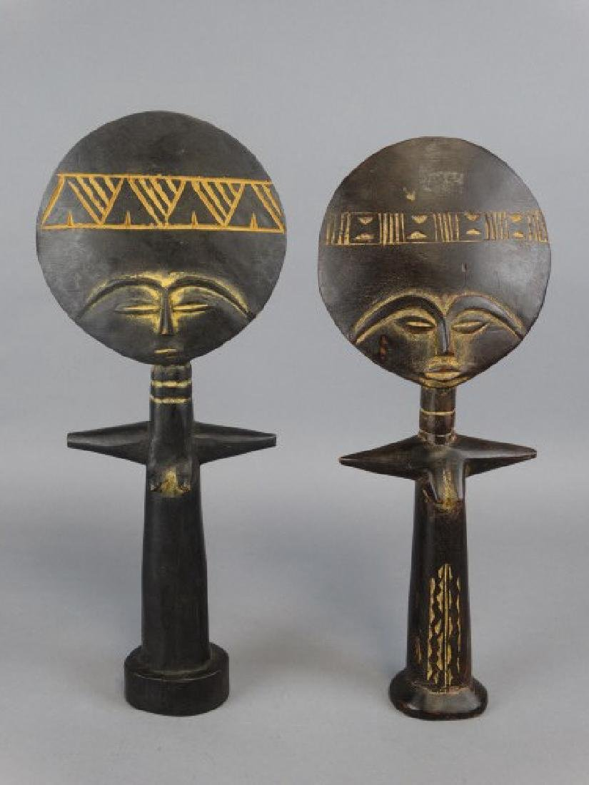 Pair of African Fertility Statues