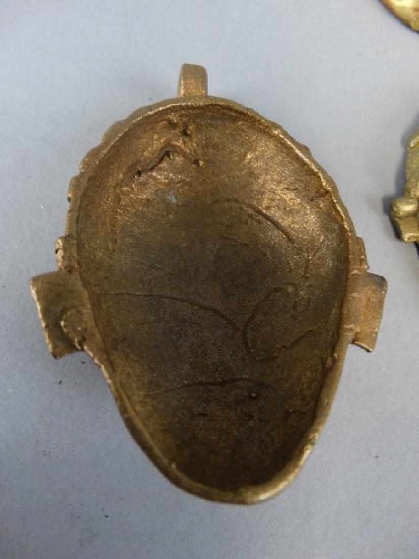 Lot of 7 African Bronze Passport Masks / Weights - 3