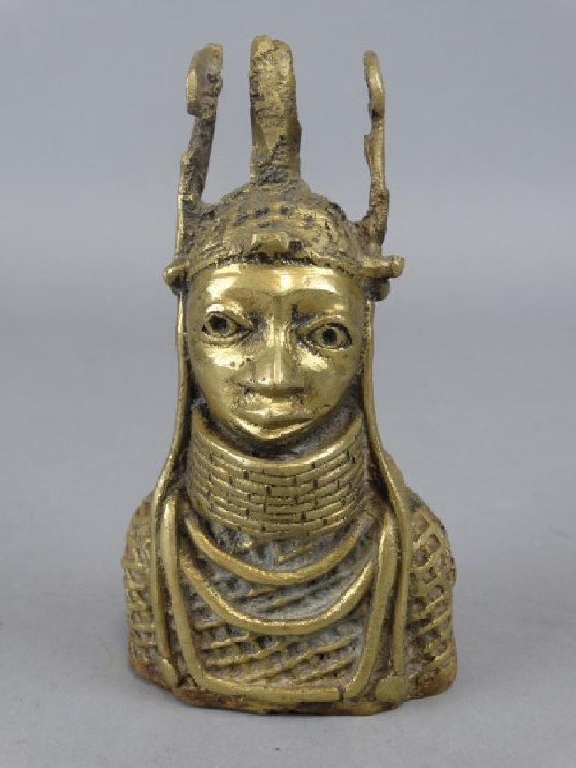 Small Bronze African Bust - Benin People, Nigeria