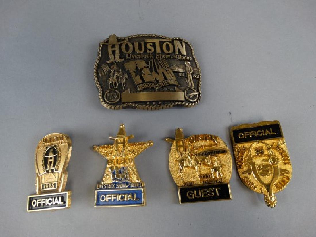 Lot of 5 Houston Livestock Show and Rodeo Items
