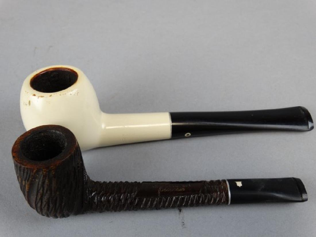 Lot of 2 Briar Pipes and Medico Filters - 2