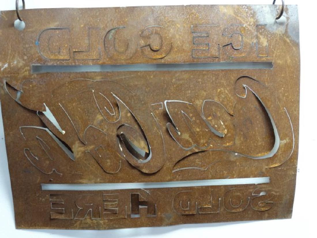 Vintage Painted Metal Coca-Cola Sign - 3