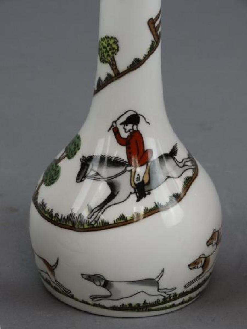 Crown Staffordshire Bells & Vase - Hunting Scene - 3
