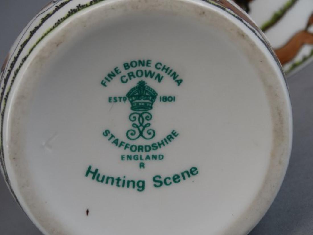 Crown Staffordshire Bells & Vase - Hunting Scene - 4