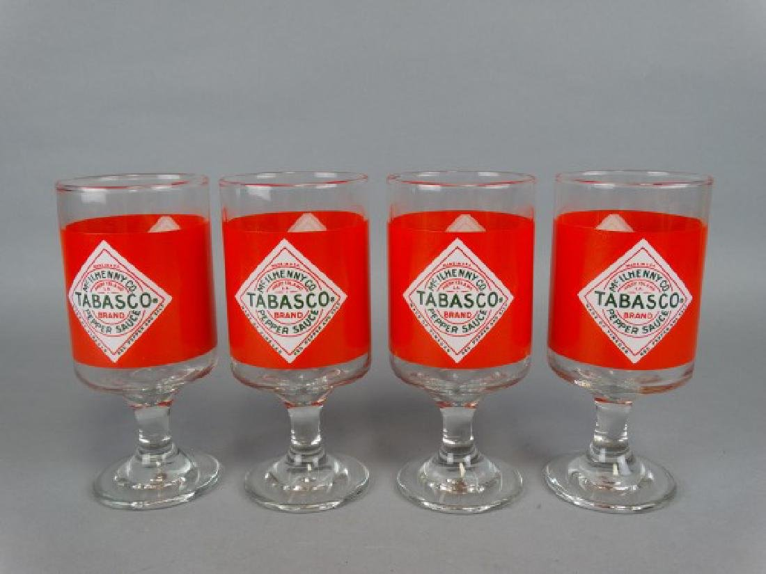 Set of 4 Footed Tabasco Glasses