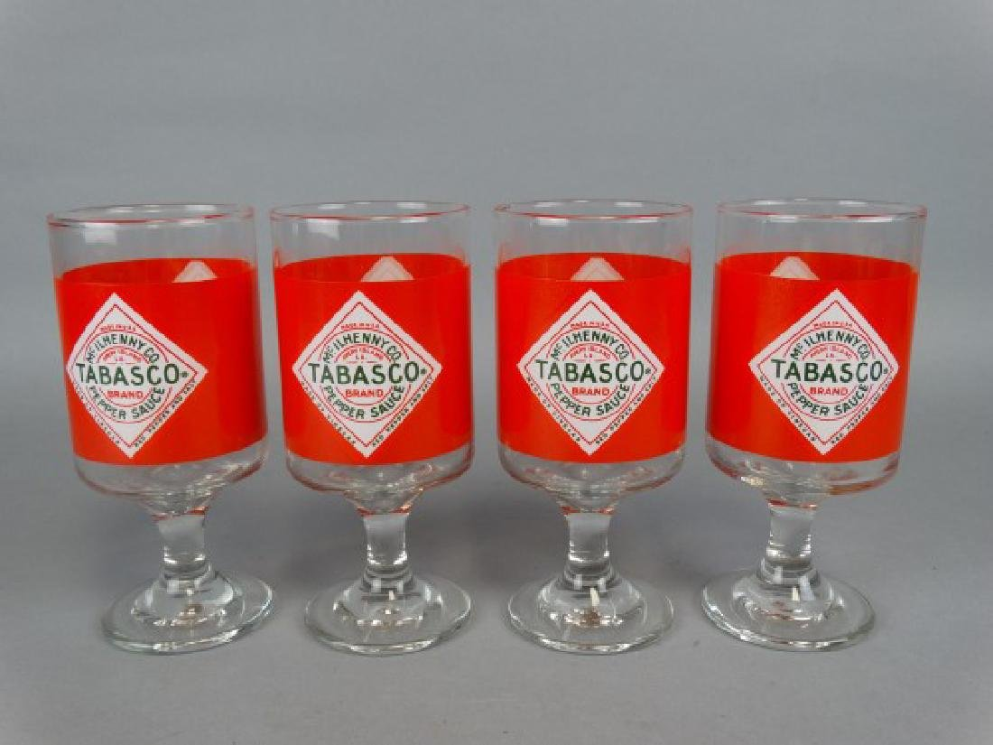 Set of 4 Footed Tabasco Glasses - 2