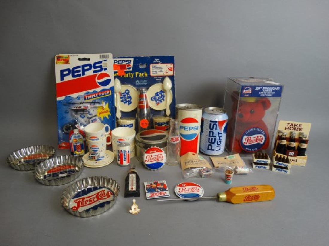 Large Lot of Vintage Pepsi Collectibles