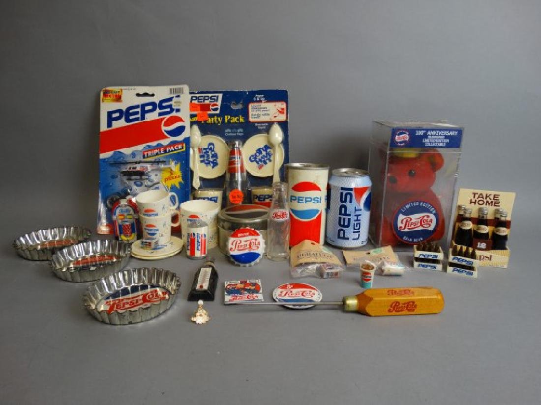 Large Lot of Vintage Pepsi Collectibles - 2