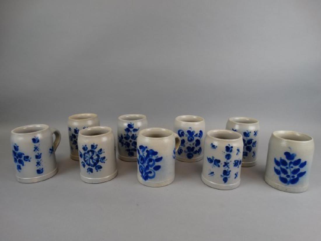 Lot of 9 Salt Glazed Beer Mugs