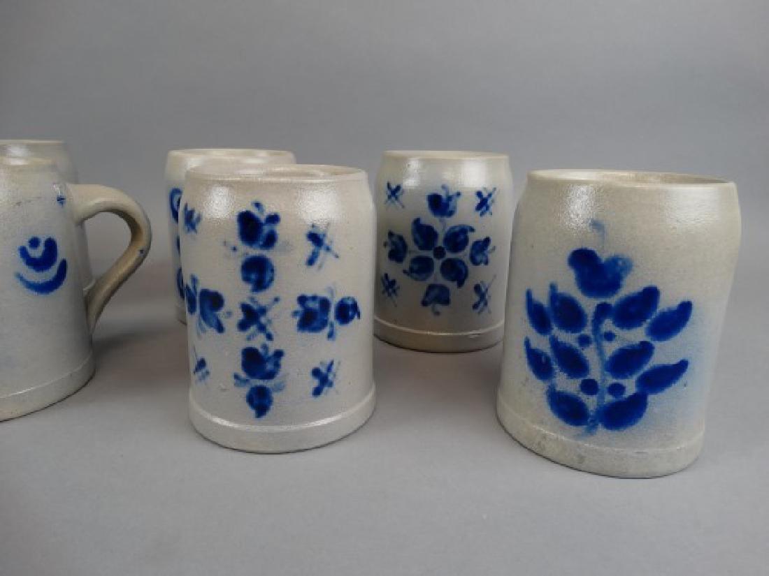 Lot of 9 Salt Glazed Beer Mugs - 2
