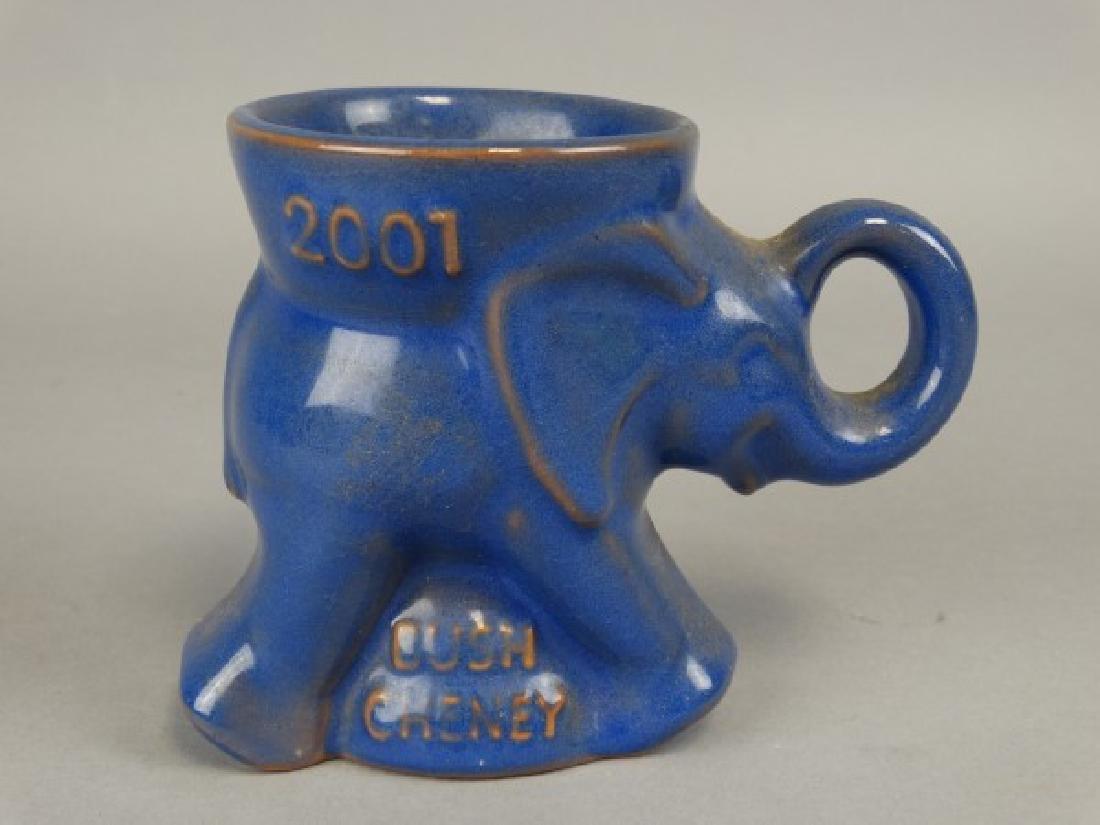 Frankoma 2001 Bush Cheney Pottery Elephant