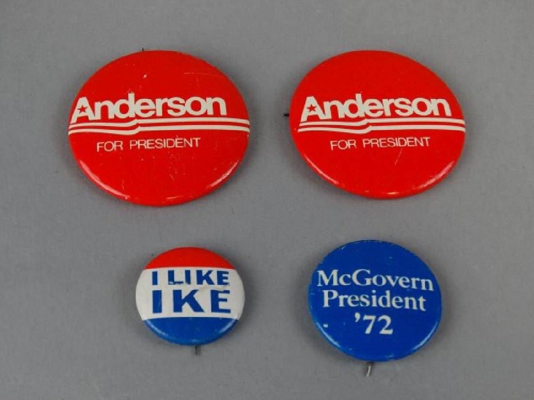 Lot of 4 Original Presidential Campaign Buttons