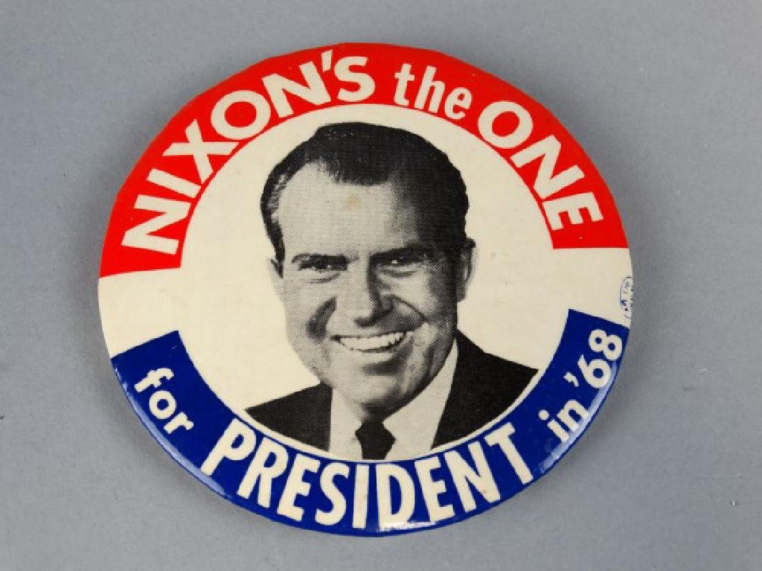 Original 1968 Nixon Presidential Button