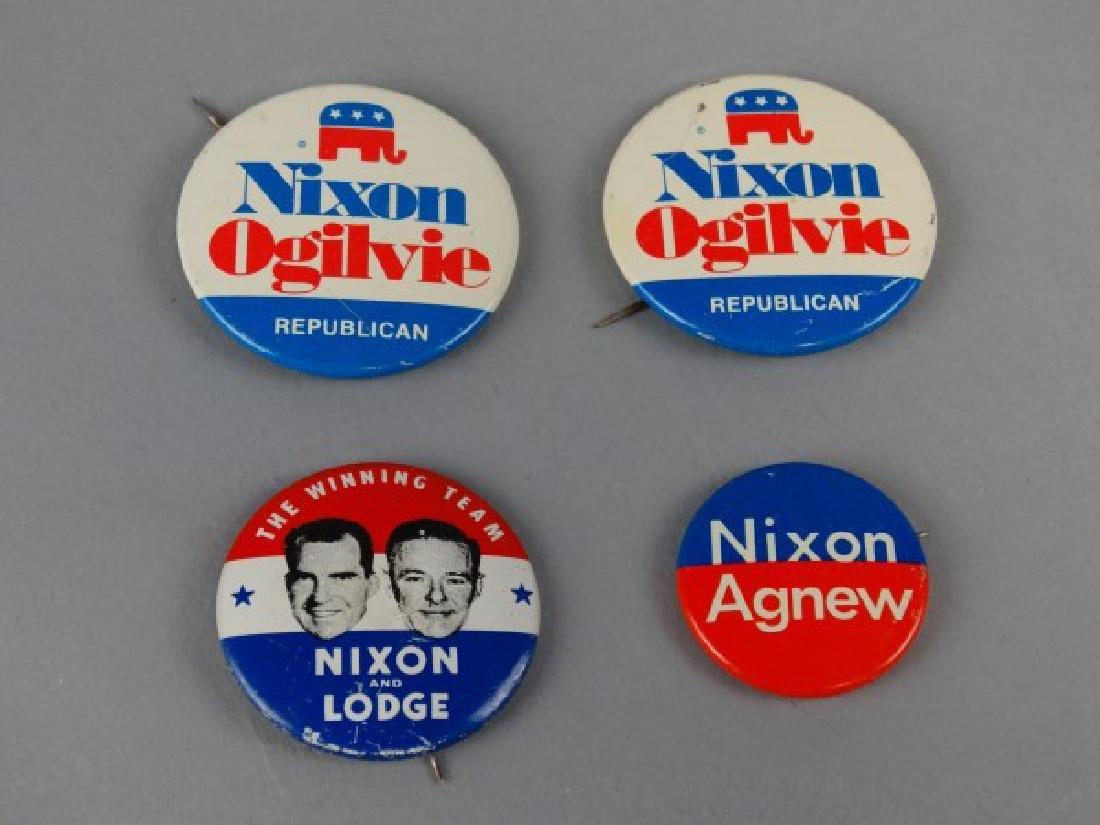 Lot of 4 Original Nixon Campaign Buttons