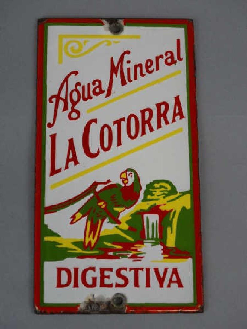 Agua Mineral La Cortorra Porcelain Sign