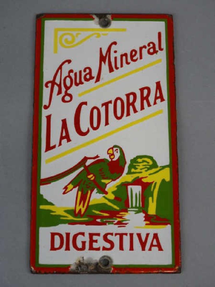 Agua Mineral La Cortorra Porcelain Sign - 2