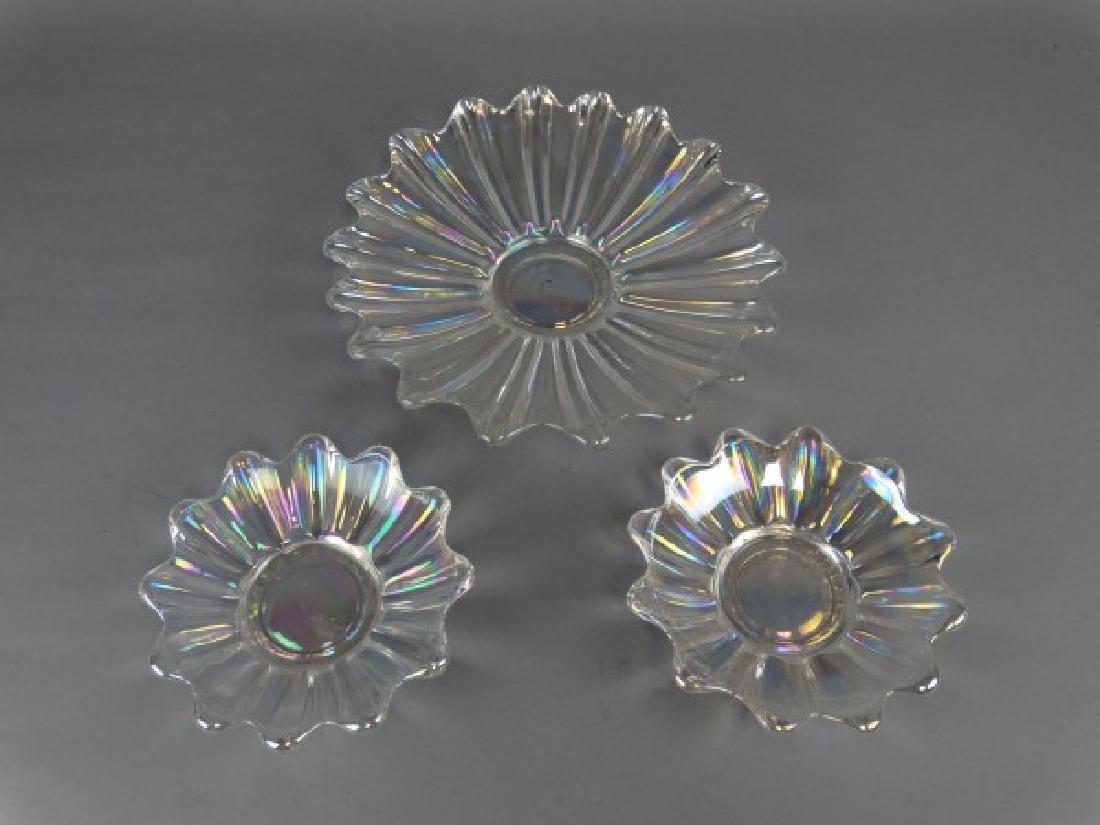 Lot of 3 Iridized  Glass Bowls - 2