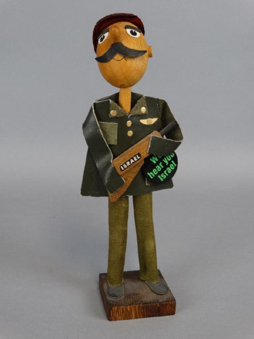 Wooden Israeli Soldier Figure