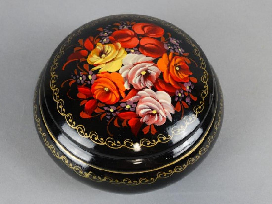 Handpainted Russian Lidded Box - 2