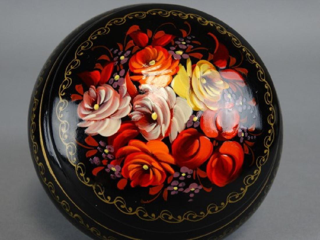 Handpainted Russian Lidded Box - 3