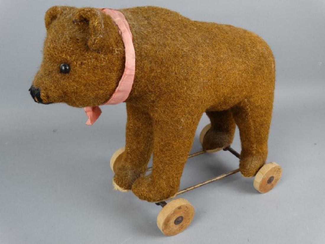 Steiff Brown Bear on Wheels - 2