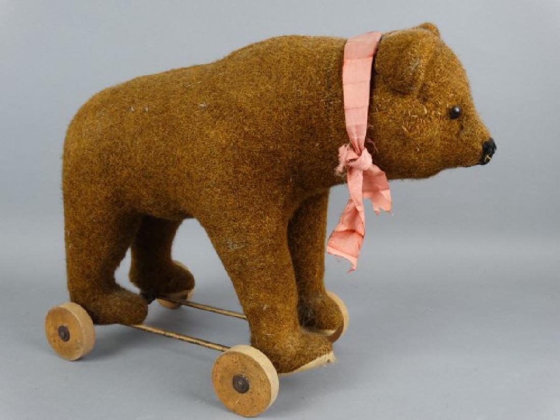 Steiff Brown Bear on Wheels - 4