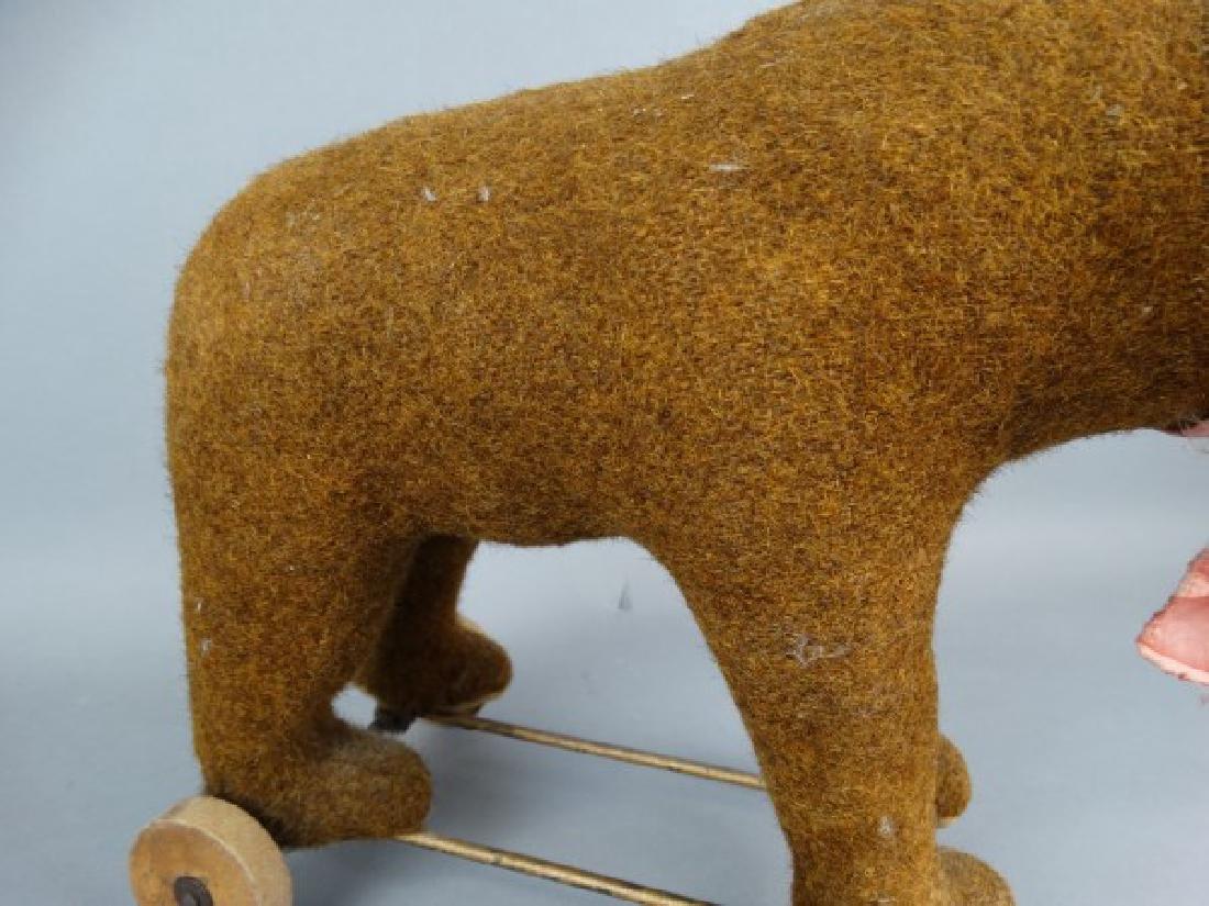 Steiff Brown Bear on Wheels - 5
