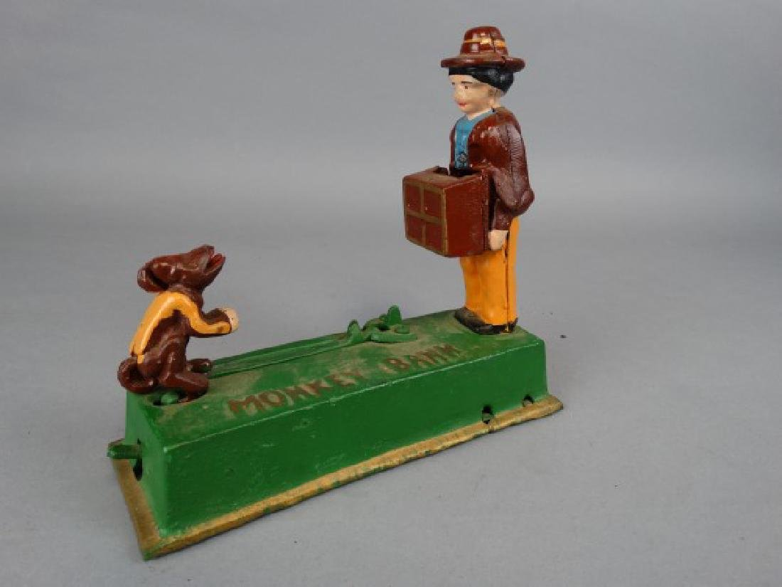 Cast Iron Monkey Bank