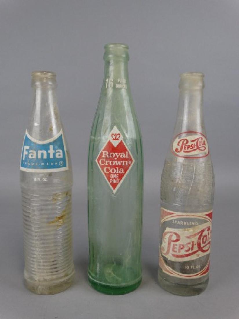 Lot of 3 Vintage Pop Bottles