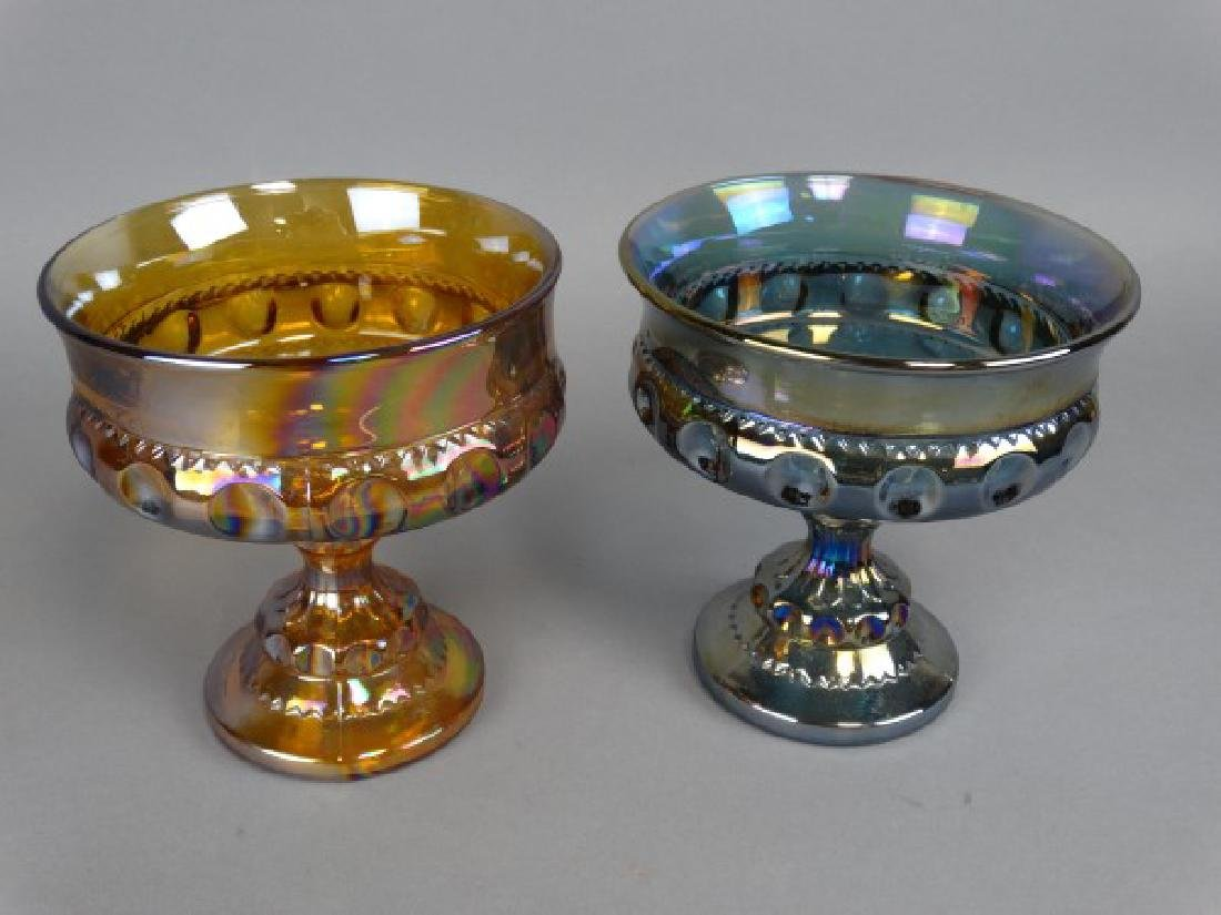 Lot of 2 Carnival Glass Compotes - 2