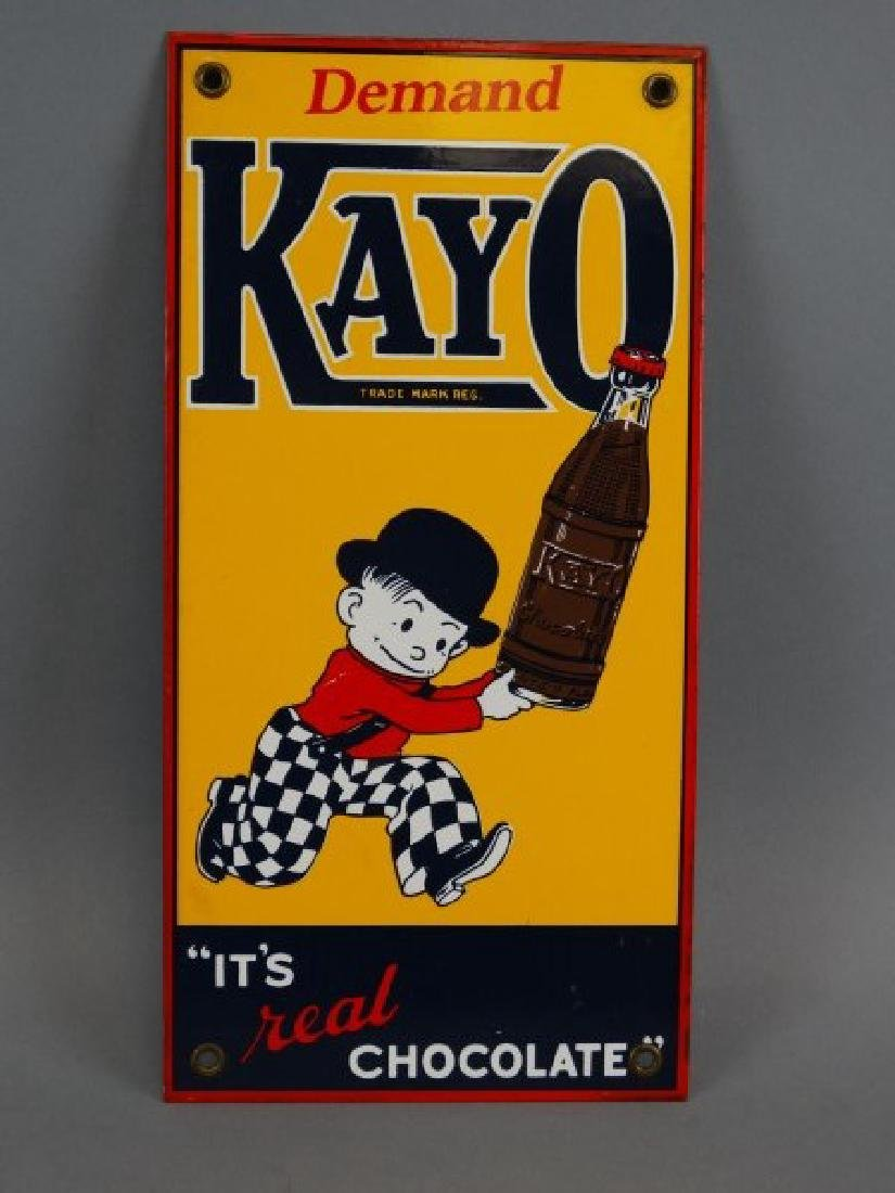Kayo Chocolate - Porcelain Sign